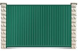забор из пластика для сада или огорода