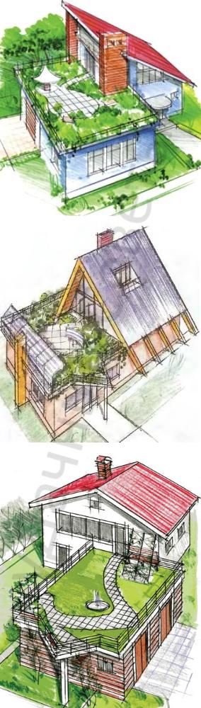разновидности самодельного сада на крыше